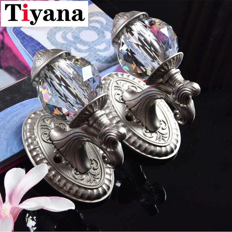 Высокое качество Европейский цинковый Clloy Шторы крючок аксессуары большой кристалл дизайн настенный крючок для занавесок веревочный крюк ...