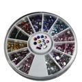 Um Rodas 3d Cores Misturadas Glitter Gem Nail Art Pedrinhas Contas de Pedra DIY Nails Dicas Celular/Bolsas/Sapatos acessório NC046
