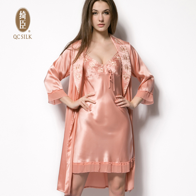 Chinese brand silk silk pajamas women Sexy Lace Lingerie female harness  piece of home ff72027136