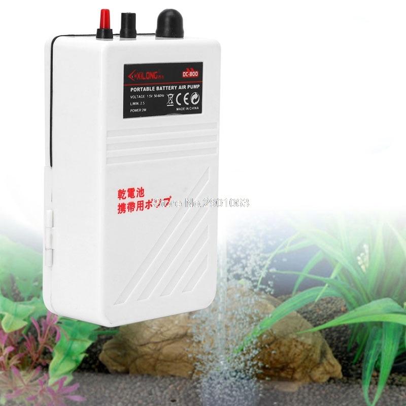 Acuarios Aquarium Air Pump Single Outlet Silent Fish Tank Battery Operated Oxygen Pump Aerator Compressor 2W
