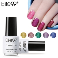 Elite99 7ml Neon Color Soak Off UV Gel Varnish Long Lasting Rainbow Nail Gel Semi Permanent