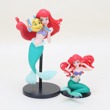10cm/20cm Q Posket Mermaid Figure Toy SPM Princess Ariel Little Mermaid PVC Action Figure Model Toy Dolls Gifts(China)