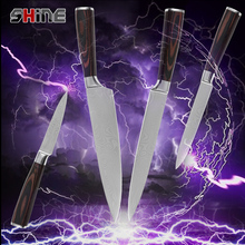 Здесь можно купить  8 inch chef slicing 5 inch utility 3.5 inch paring kitchen knives 7cr17stainless steel damascus pattern knives cooking tools