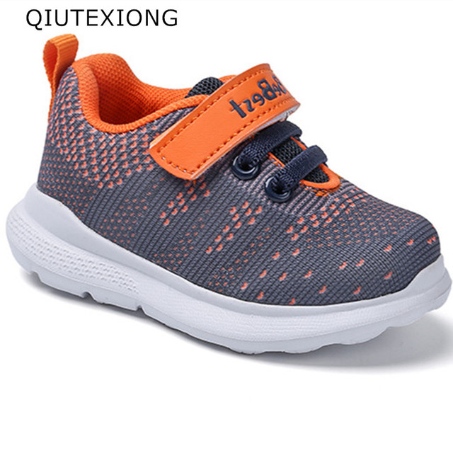 8b2c1d8335efa Toddler Shoes Antislip Lightweight Foam Sole Boy Casual Shoes Gray Flyknit  Girls Sports Shoes Children Sneakers For 1-3 Years
