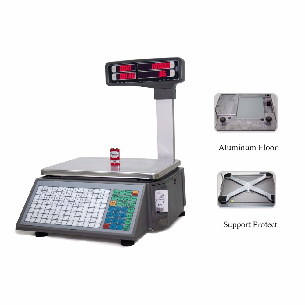 903901296 price scale for supermarket meat shop or fruit shop barcode printing Electronic  weighing Scales with 10000 PLUs-in Printer Parts from Computer   Office on  ...