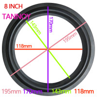 TANNOY 8 INCH Woofer Bass Speaker Repair Parts Accessories Rubber Surround Edge Folding Sponge Side Ring Circle Subwoofer 1 Pair