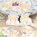 40pcs Self-made Cute Fox Animal Scrapbooking Stickers Decorative Sticker DIY Craft Photo Albums Decals Diary Deco