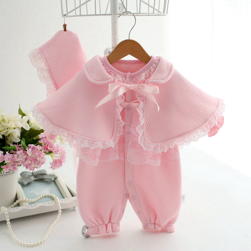 Newborn baby clothes 2017 new infant princess formal dress ropa de bebe girl clothing set coveralls baby rompers newborn baby rompers baby clothing 100% cotton infant jumpsuit ropa bebe long sleeve girl boys rompers costumes baby romper