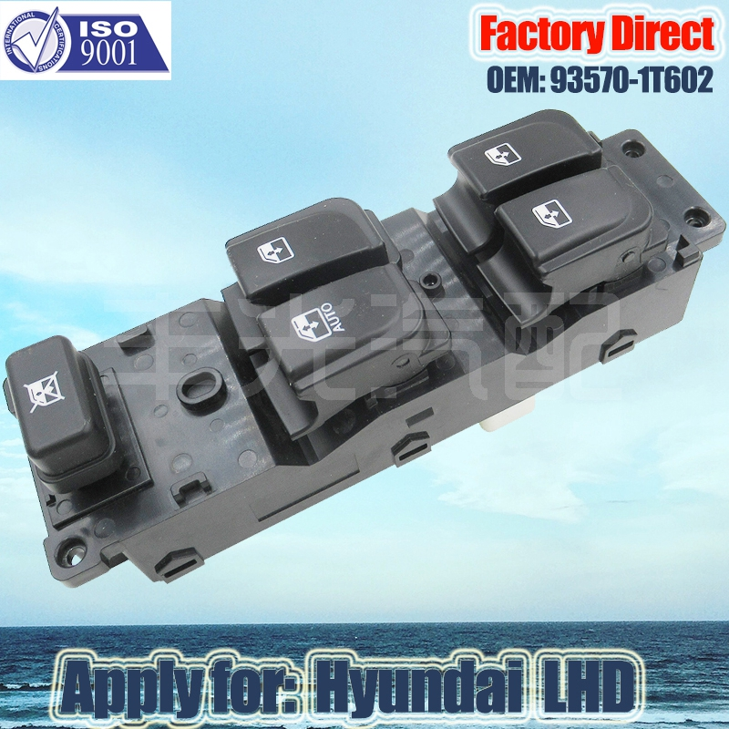 Factory Direct Auto Power Window Switch Apply For Hyundai LHD 93570-1T602 Auto Window Switch 14 Pins Left Driver Side Switch