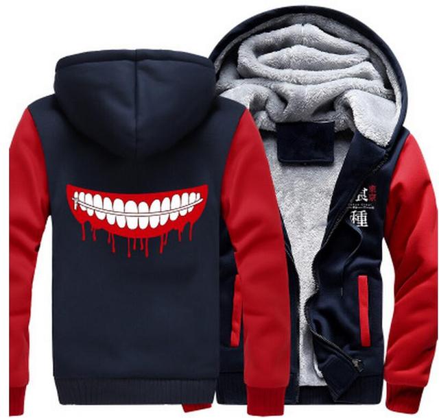 Tokyo Ghoul Ken Kaneki Jacket Sweatshirts Thicken Hoodie