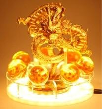 Lámpara de mesa de Dragon Ball Z, Son Goku y espíritu del dragón, con luces led