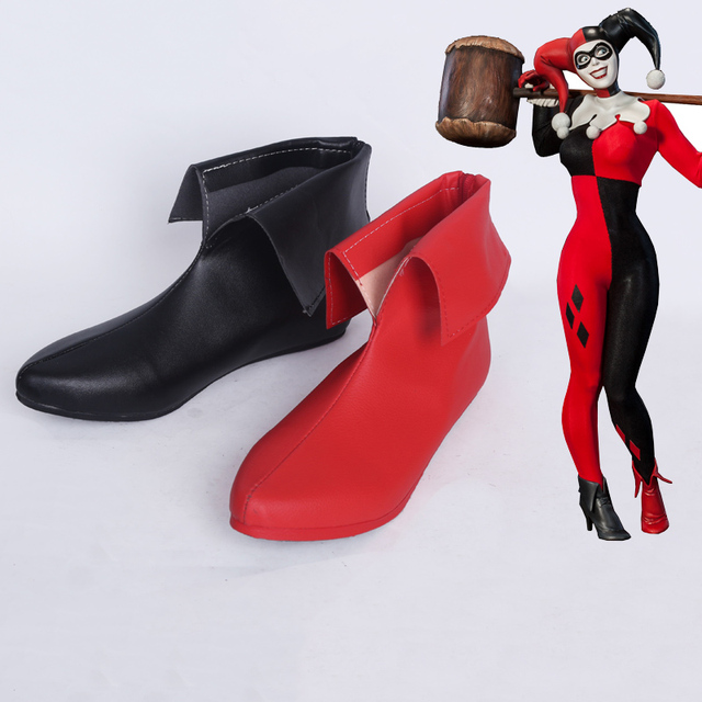 58cff69fb06 New Arraval Batman DC Comic Suicide Squad Harley Quinn Clown Cosplay  Costume Shoes Cosplay Boots