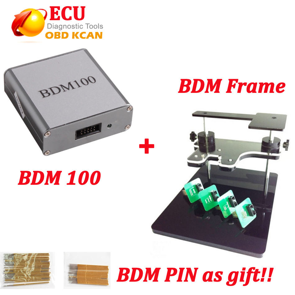 New BDM 100 tool v1255 BDM100 ECU Auto Programmers + BDM frame with adapters get free 40 pcs bdm pins with DHL shipping