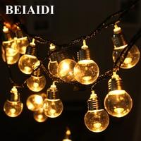 BEIAIDI Solar 6M 20 Led G50 Globe Bulbs LED String Light Clear Solar Christmas Light Patio