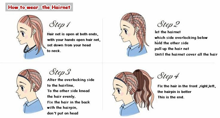 1how to wear hairnet