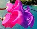 2017 женщина высокое качество Китайский шелк завесы танца болельщики пара танец живота вентиляторы дешевые горячие продажи Фиолетовый + Роза