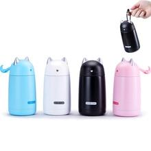 Edelstahl Thermosbecher Saugnapf Neue Modell Cartoon Katze Form Hitzebewahrung Tasse Kinder Wasserflasche KC1415