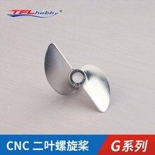 TFL, pièces authentiques! Hélice en Aluminium à 2 lames g series CNC 1.9, trou de placement, diamètre 3.18mm/4.0mm, pour bateau RC