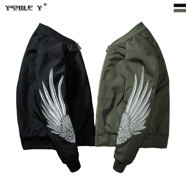 b442f34d6 2018 NEW Men Air Force Flight Jacket China Elements Embroidery Bomber Coat  Street tide Punk style jackets Black Army-green A39