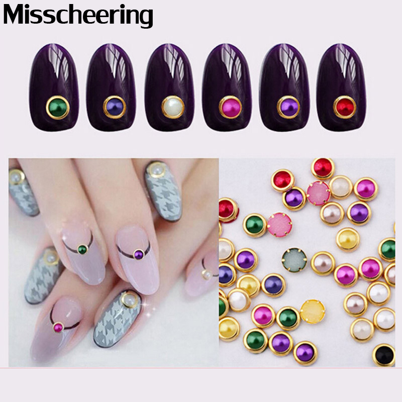 100pcs/pack Hot Nail Art Pearl Rhinestone 3d Gold Metal Studs Gems Charm DIY Craft Styling Tool Stone Nail Decorations hot 3d boat stone nail art decorations bling charm rhinestone for nail pedras para unha unghie diy acrylic tool ongle with wheel