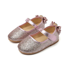 2019 Spring Summer Girls Shoes Bowtie Princess Sandals PU Leather Kids Single Shoes for Girl Toddler Shoes Soft Children Flats kine panda children shoes girls flats hello kitty baby shoes pu leather little kids shoes for girl soft toddler girls shoes