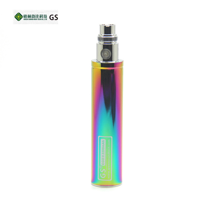 GreenSound GS ego II rainbow battery 2200mm ego high quality battery fit for Electronic Cigarettes Atomizer