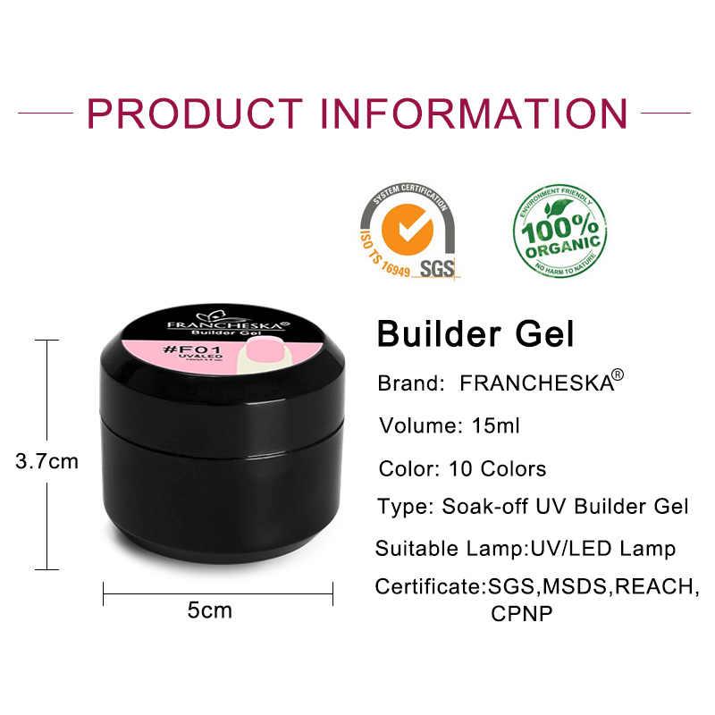 Juego de uñas de Gel de constructor grueso Francheska Rosa 15ml extensión de uñas UV LED Gel funda de uñas Rosa camuflaje remojo de jalea Gel
