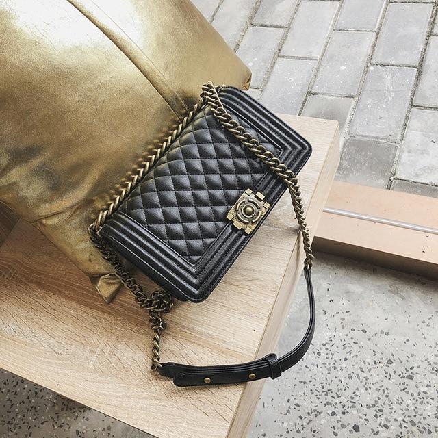 Rima bolsa tienda 2019 Retro uno hombro cadena embrague bolso Messenger de  la mujer