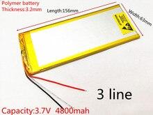 3263156 3.7V 4800mAh Rechargeable li Polymer Li-ion Battery For 8 inch 9inch Tablet PC CHUWI Hi8 hi8 pro xv8 DVD DVR