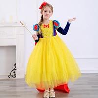 Disney Children's Snow White Princess Dress Girls Cute Sweet Tutu Dress