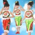 Китайский Народный Танец Yangko Сценическое Костюмы для Танцоров Костюмы Китайские Национальные Костюмы для Девушки Танцуют Костюм