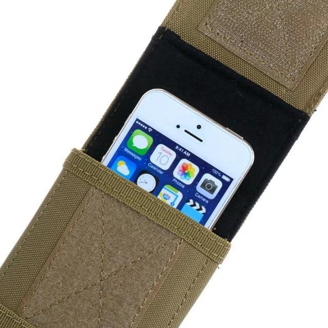 Olahraga Holster Kait Loop Sabuk Telepon Kasus Cover Bag Pouch Untuk - Aksesori dan suku cadang ponsel - Foto 4