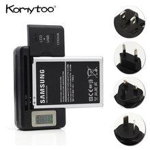 bc81c5068f8 Teléfono celular móvil Universal cargador de batería con puerto USB negro  pantalla LCD indicador cargadores de batería para EU/U..