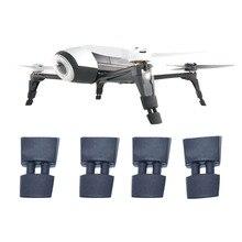 Protetor de altura de pouso, 4 unidades, estojo de borracha, extensor de perna para papagaio, bebop 2 fpv hd, vídeo drones de pouso engrenagem da engrenagem