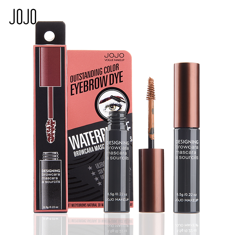 Brand jojo waterproof eyebrow tint cream cosmetics brown for Tattooed eyeliner brand
