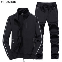 YIHUAHOO Track Suit Men 6XL 7XL 8XL Winter Autumn Two Piece Clothing Set Brand Casual Tracksuit Sportswear Sweatsuit XYN-8823(China)