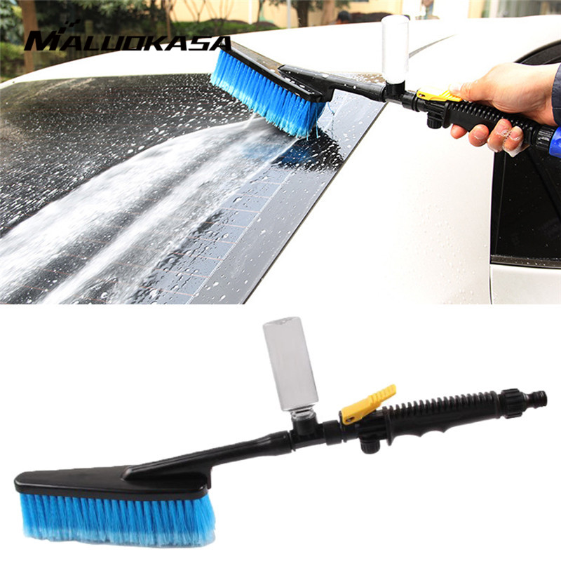 1PC Auto Exterior Cleaning Brushes Retractable Long Handle Car Wash Brush Water Foam FlowCare Washer Tire Clean Tool Maintenance