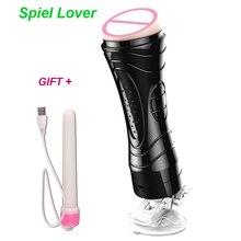 Hands Free Electric Oral Male Masturbator for Man Vagina real Pussy vibrator Sex Toys For Men Masturbation Cup Anus sex mashine