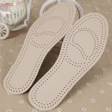 New Men Women Artificial Leather Insoles Sweat Antibacterial Deodorant Cushion Foot Shoes Care Accessories New