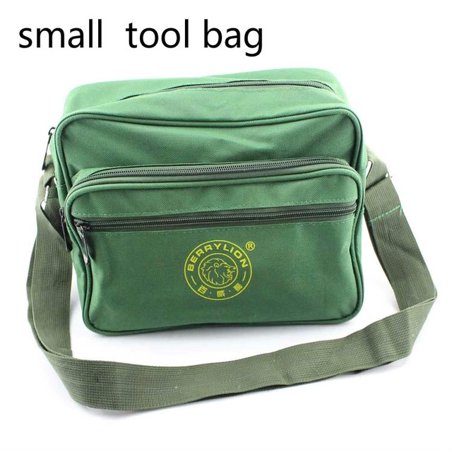 Small Tool Bag Shoulder Canvas Repair Kit Belt For Tools Toolbox