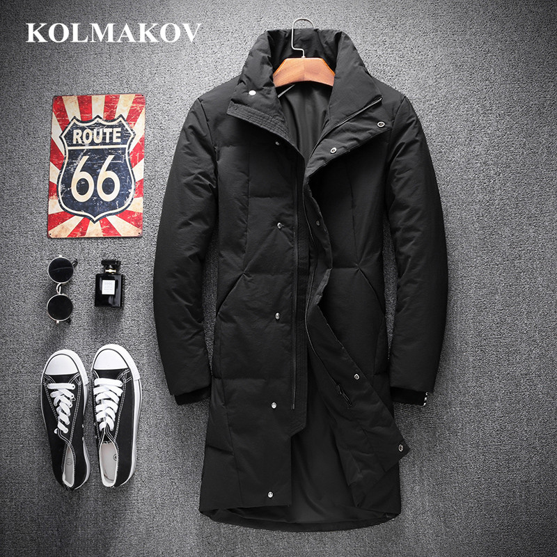 KOLMAKOV 2018 New Arrive 90% White Duck   Down     Coats   for Men Winter Thick Mens Long Parkas M-4XL High Quality Warm Overcoats Male