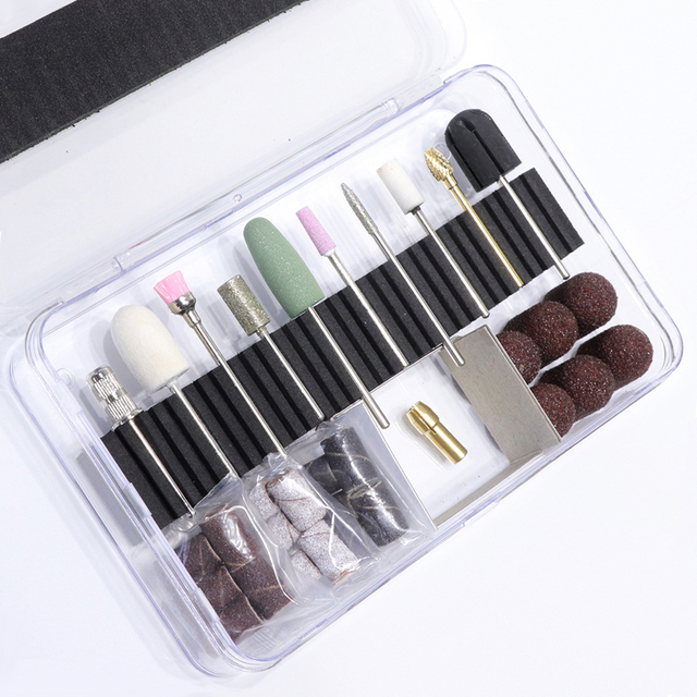 Electric Nail Manicure Pedicure Drill File Tool Set- HireAbility