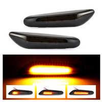 Feux de position latéraux LED à eau coulant indicateur de clignotant gauche droite pour BMW E90 E91 E92 E93 E60 E87 E82 E46 sans erreur