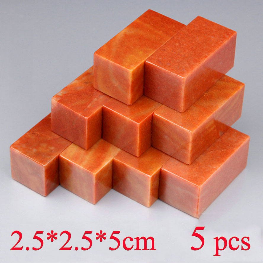 5 pcs Blank Chinese Stamp Stone Tradition Painting Calligraphy Seal Stone Engraving Chinese Carving art Set free shipping chicks and eggs pattern mini diy soap stamp chaprter seal 5 5 2cm
