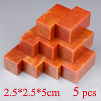5 pcs Blank Chinese Stamp Stone Tradition Painting Calligraphy Seal Stone Engraving Chinese Carving art Set