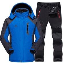 2004b648314 Ski Suit Men Waterproof Thermal Snowboard Fleece Jacket + Pants Male Mountain  skiing and snowboarding Winter Snow Clothes Set