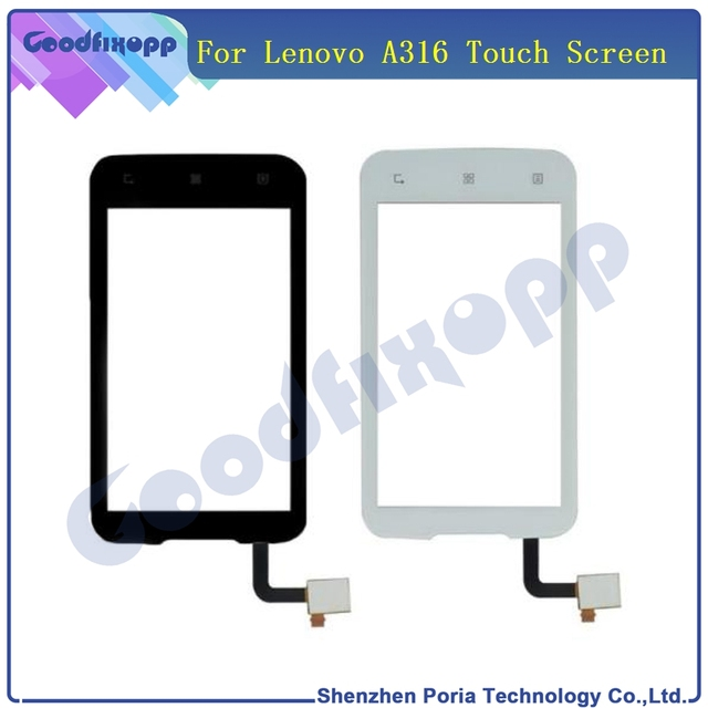 For Lenovo A316 A316i Touch Screen Front Outer Glass Digitizer Panel Lens Sensor Flex Cable Touch Screen For Lenovo A316 Repair