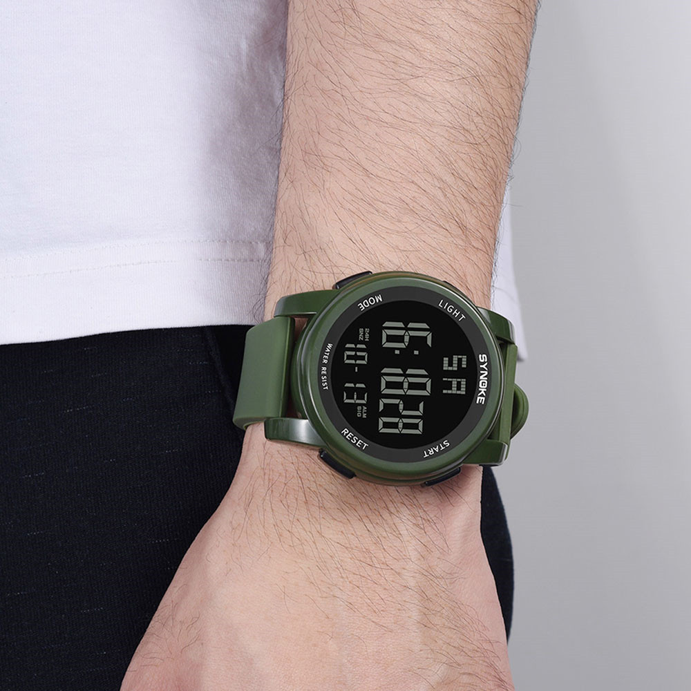 Men Sport Watches Multi Function Military  Sports Watch LED Digital Dual Movement Rubber Wrist Watch часы мужские Erkek Kol Saat