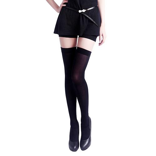 Fashion Women Pure Color Opaque Sexy Thigh High Stockings Over The Knee Tights