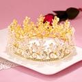 Luxury Wedding Bridal Crystal Tiara Crowns Princess Queen Pageant Prom crystal Veil Tiara Headband Wedding Hair Accessory
